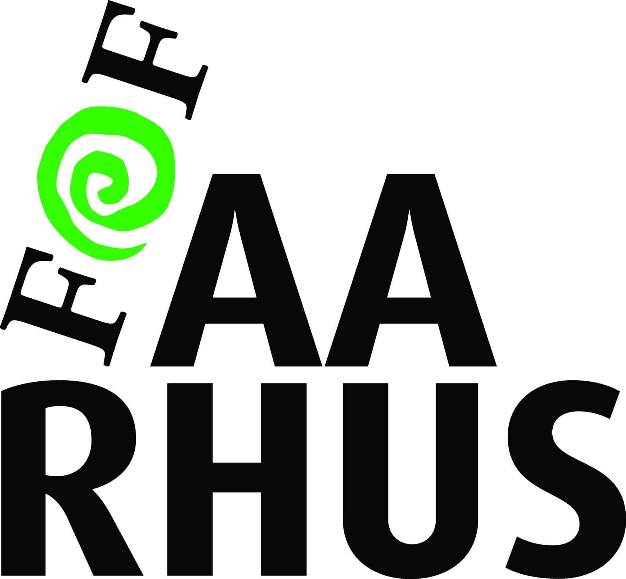CMYK_Sort-grøn_skævt logo